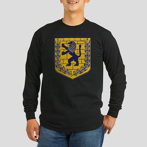 Lion of Judah Gold Long Sleeve Dark T-Shirt