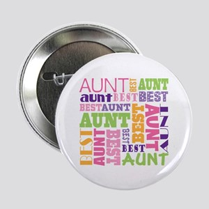 "Best Aunt Design Gift 2.25"" Button"