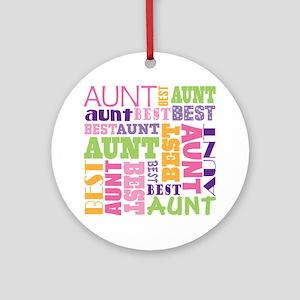 Best Aunt Design Gift Ornament (Round)