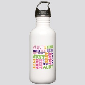 Best Aunt Design Gift Stainless Water Bottle 1.0L