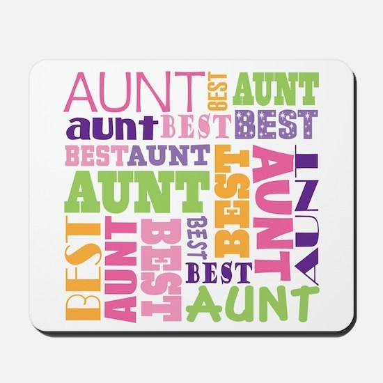 Best Aunt Design Gift Mousepad