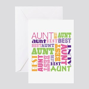 Best Aunt Design Gift Greeting Card