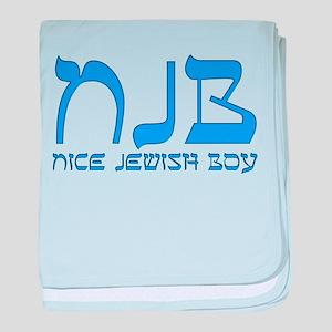 NJB - Nice Jewish Boy baby blanket
