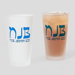 NJB - Nice Jewish Boy Drinking Glass