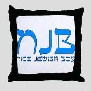 NJB - Nice Jewish Boy Throw Pillow