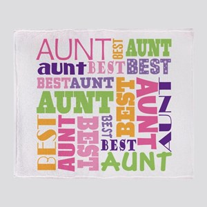 Best Aunt Design Gift Throw Blanket
