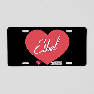 Hearts Ethel Aluminum License Plate