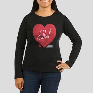 Hearts Ethel Women's Long Sleeve Dark T-Shirt