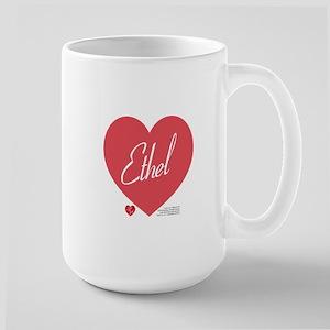 Hearts Ethel 15 oz Ceramic Large Mug