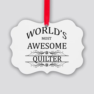 World's Most Awesome Quilter Picture Ornament