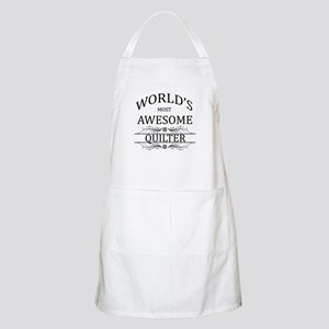 World's Most Awesome Quilter Apron