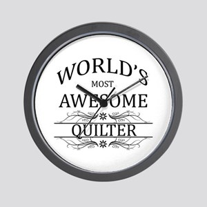 World's Most Awesome Quilter Wall Clock