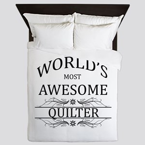 World's Most Awesome Quilter Queen Duvet