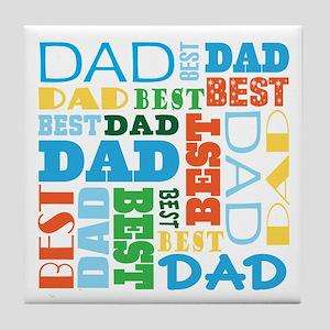 Best Dad Gift Tile Coaster