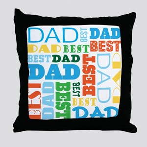 Best Dad Gift Throw Pillow