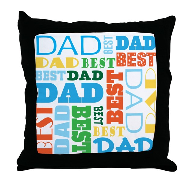 Photo Throw Pillow Gifts : Best Dad Gift Throw Pillow by mainstreetshirt