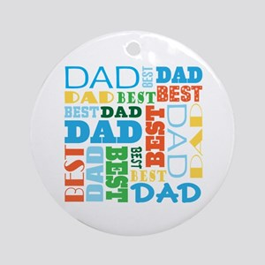 Best Dad Gift Ornament (Round)
