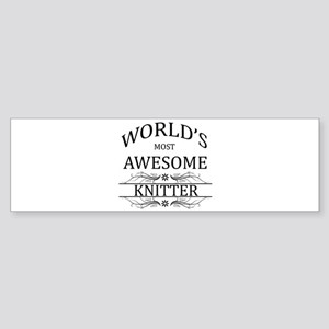 World's Most Awesome Knitter Sticker (Bumper)