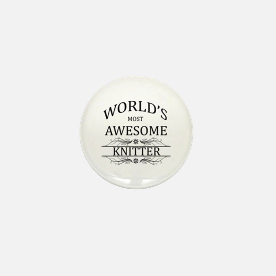World's Most Awesome Knitter Mini Button