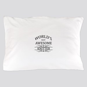 World's Most Awesome Knitter Pillow Case