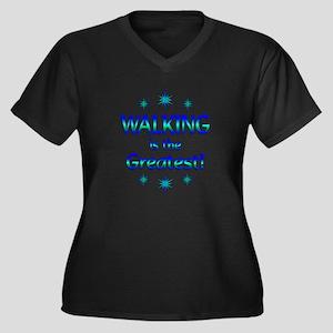 Walking is the Greatest Women's Plus Size V-Neck D