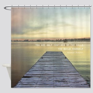 _wall-clock---You-are-only-confined Shower Curtain