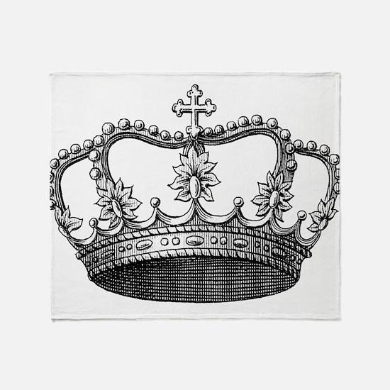 vintage crown Throw Blanket