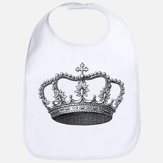 vintage crown Bib
