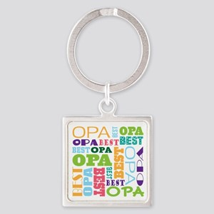 Best Opa Gift Square Keychain