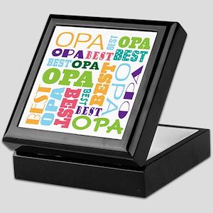 Best Opa Gift Keepsake Box