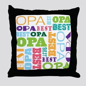 Best Opa Gift Throw Pillow