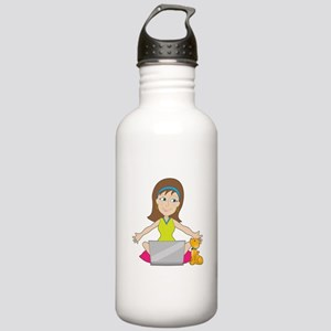 Happy Laptop Lady Stainless Water Bottle 1.0L