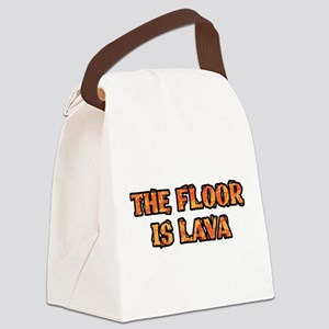 The Floor Is Lava Canvas Lunch Bag