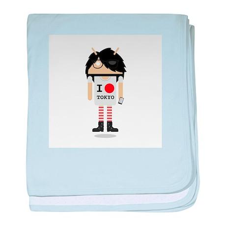 I O Tokyo baby blanket