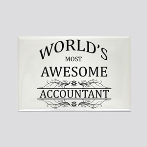 World's Most Awesome Accountant Rectangle Magnet