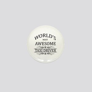 World's Most Awesome Taxi Driver Mini Button