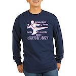 Martial Arts Therapy Long Sleeve Dark T-Shirt