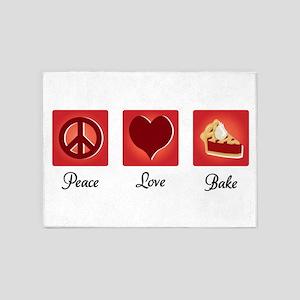 Peace Love Bake 5'x7'Area Rug