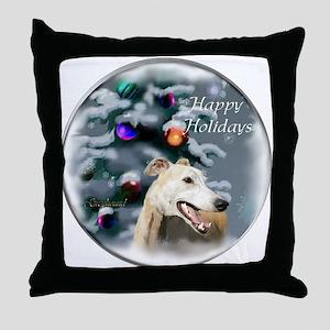 Greyhound Christmas Throw Pillow