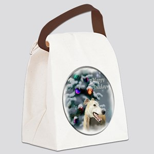 Greyhound Christmas Canvas Lunch Bag