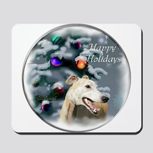 Greyhound Christmas Mousepad
