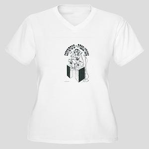 CBP Official Logo (B&W) Women's Plus Size V-Neck T