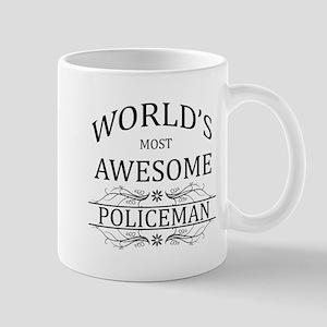World's Most Awesome Policeman Mug