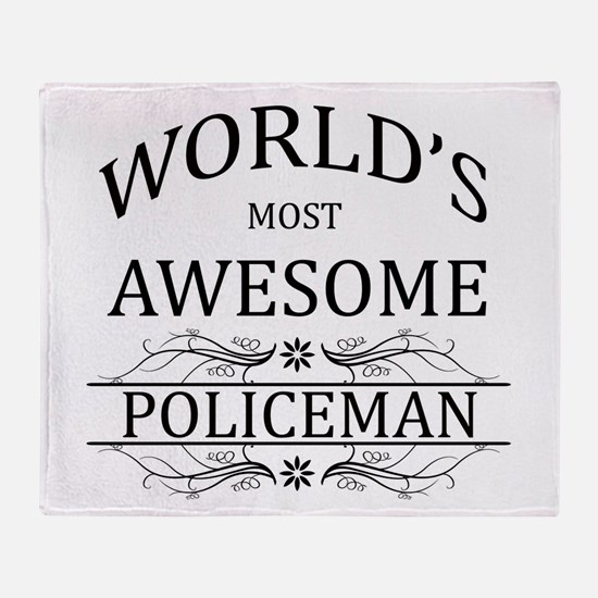 World's Most Awesome Policeman Throw Blanket