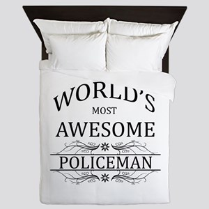 World's Most Awesome Policeman Queen Duvet