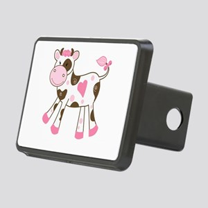 Pink Cow with Heart Hitch Cover