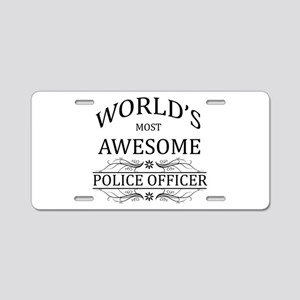 World's Most Awesome Police Officer Aluminum Licen