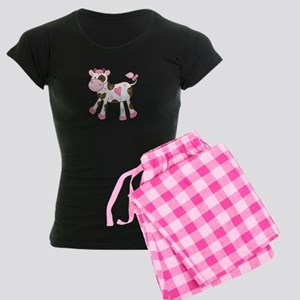 Pink Cow with Heart Pajamas