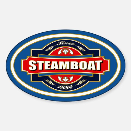 Steamboat Old Label Sticker (Oval)