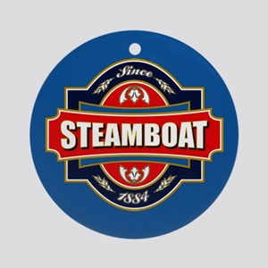 Steamboat Old Label Ornament (Round)